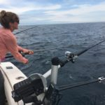 Reeling a fish in